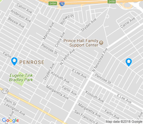 map of Penrose apartments for rent