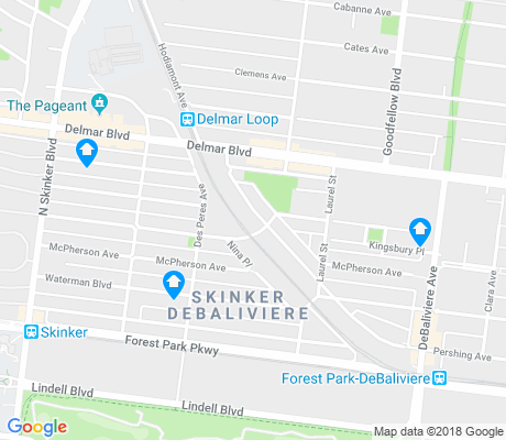 map of Skinker DeBaliviere apartments for rent