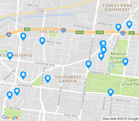 map of Southwest Garden apartments for rent