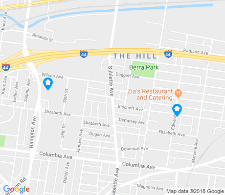 map of The Hill apartments for rent