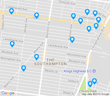 map of The Southampton apartments for rent