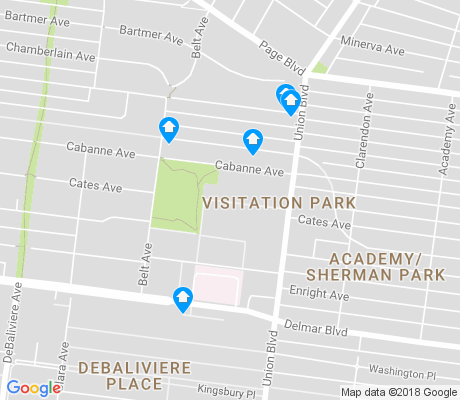 map of Visitation Park apartments for rent