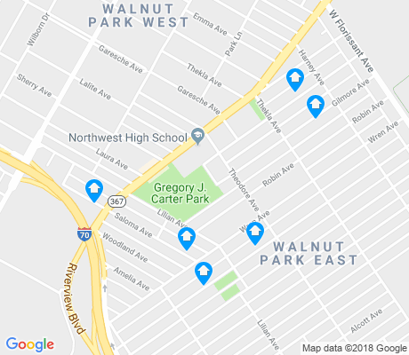 map of Walnut Park East apartments for rent