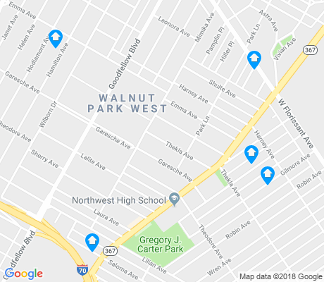 map of Walnut Park West apartments for rent