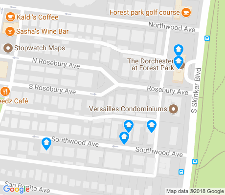 map of Wydown Skinker apartments for rent