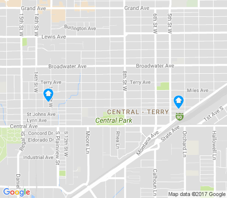 map of Central - Terry apartments for rent