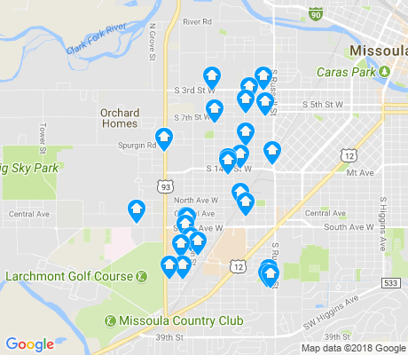 map of Franklin to the Fort apartments for rent