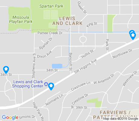map of Lewis and Clark apartments for rent