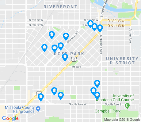 map of Rose Park apartments for rent