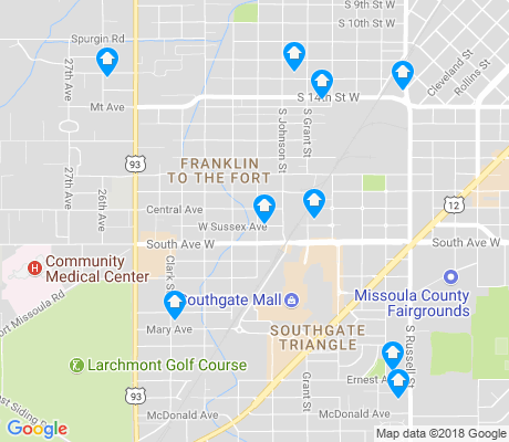 map of Southgate Triangle apartments for rent