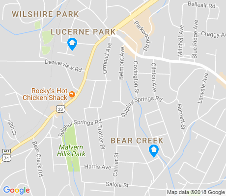 map of Bear Creek apartments for rent