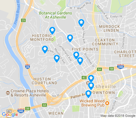 map of Historic Montford apartments for rent