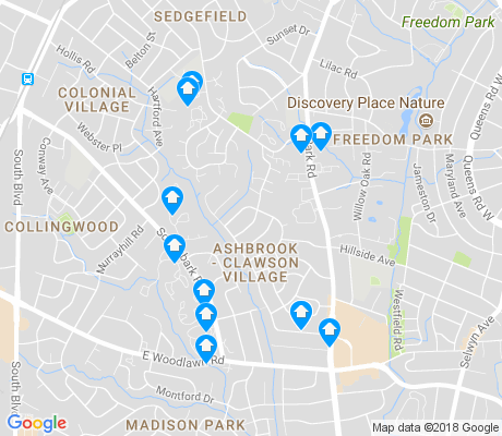 map of Ashbrook - Clawson Village apartments for rent