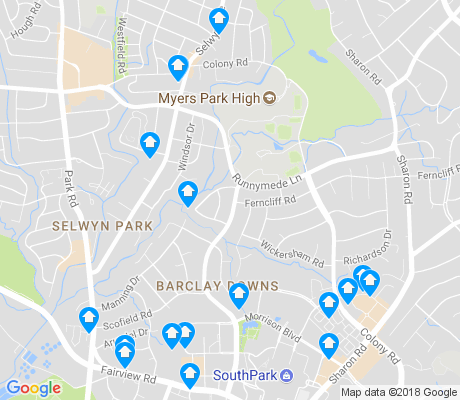 map of Barclay Downs apartments for rent