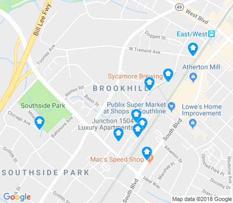 map of Brookhill apartments for rent