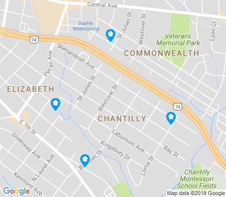 map of Chantilly apartments for rent