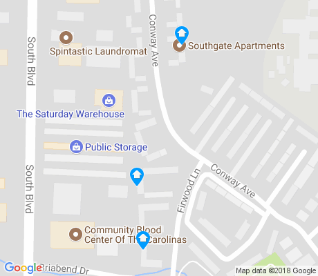 map of Colonial Village apartments for rent