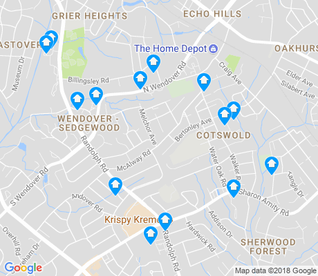map of Cotswold apartments for rent