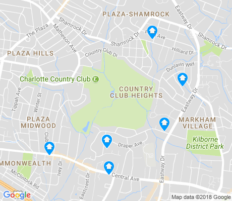 map of Country Club Heights apartments for rent