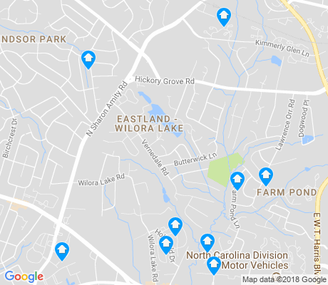 map of Eastland - Wilora Lake apartments for rent
