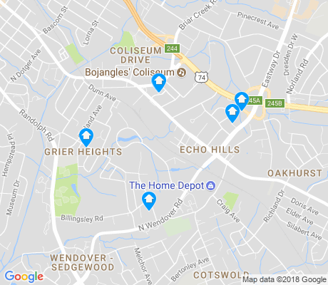 map of Echo Hills apartments for rent