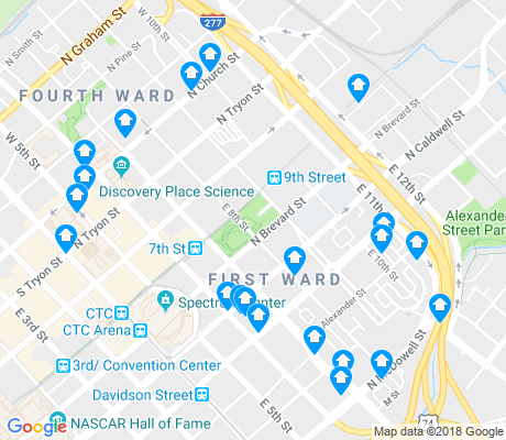 map of First Ward apartments for rent