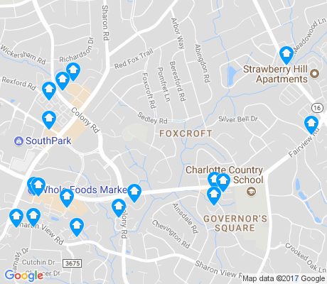 map of Foxcroft apartments for rent