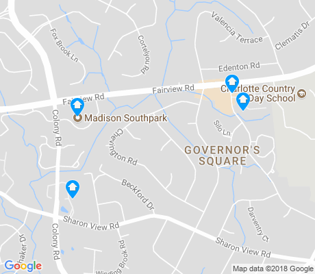 map of Governor's Square apartments for rent