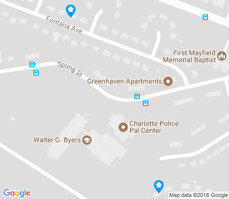 map of Greenville apartments for rent