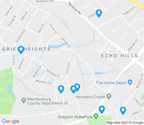 map of Grier Heights apartments for rent