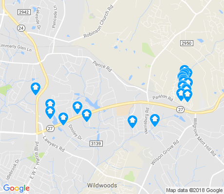 map of Hickory Ridge apartments for rent