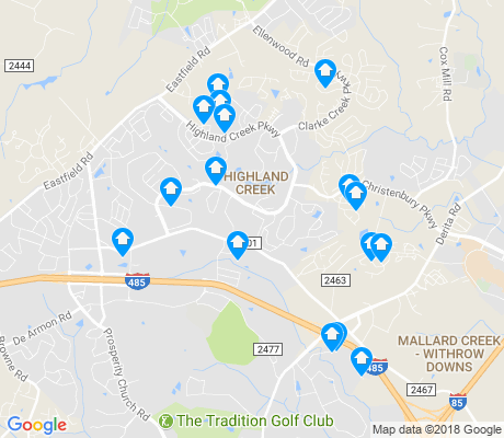 map of Highland Creek apartments for rent