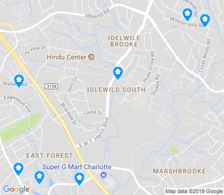 map of Idlewild South apartments for rent