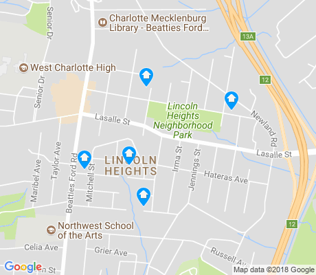 map of Lincoln Heights apartments for rent