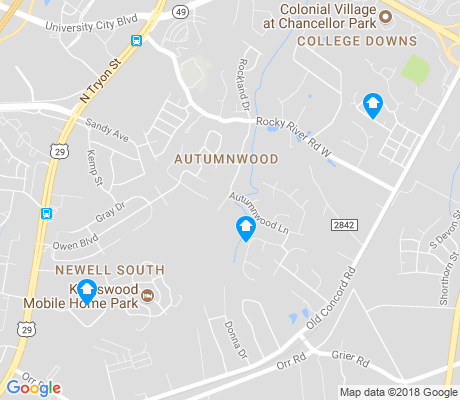 map of Newell South apartments for rent