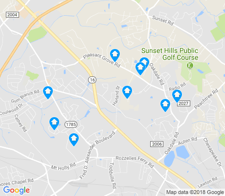 map of Oakdale South apartments for rent