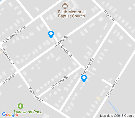 map of Oakview Terrace apartments for rent