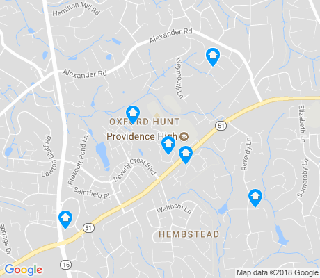 map of Oxford Hunt apartments for rent