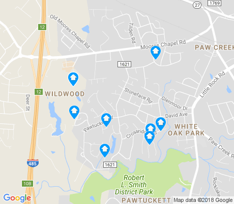 map of Pawtuckett apartments for rent