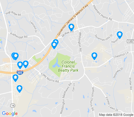 map of Providence Estates East apartments for rent