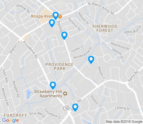 map of Providence Park apartments for rent