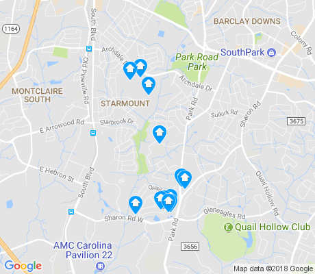 map of Quail Hollow apartments for rent