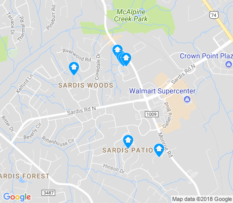 map of Sardis Woods apartments for rent