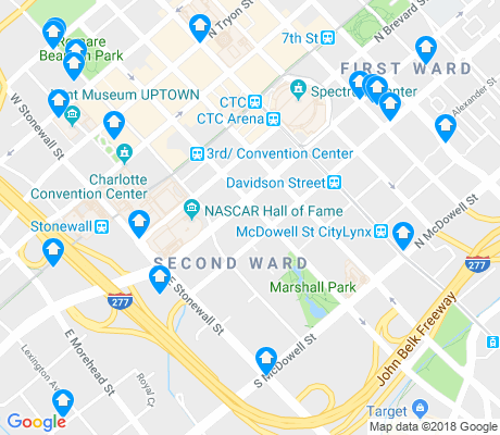 map of Second Ward apartments for rent