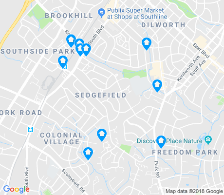 map of Sedgefield apartments for rent