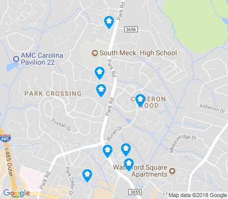 map of Seven Eagles apartments for rent