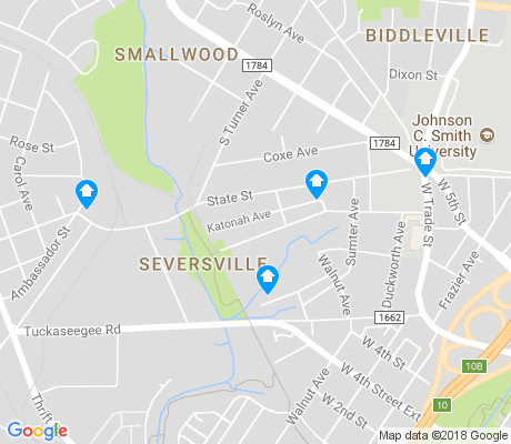 map of Seversville apartments for rent