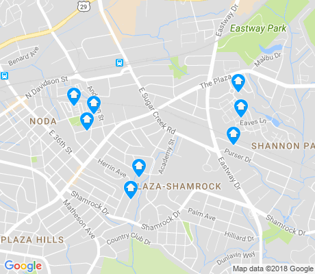 map of Shamrock apartments for rent