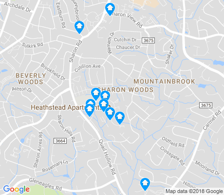 map of Sharon Woods apartments for rent