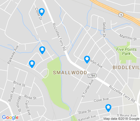 map of Smallwood apartments for rent
